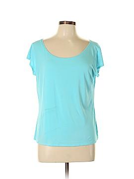 Eileen Fisher Short Sleeve Silk Top Size L
