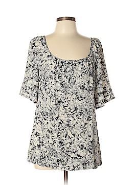 Halogen Short Sleeve Silk Top Size L