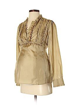 Mimi Maternity Long Sleeve Silk Top Size S (Maternity)