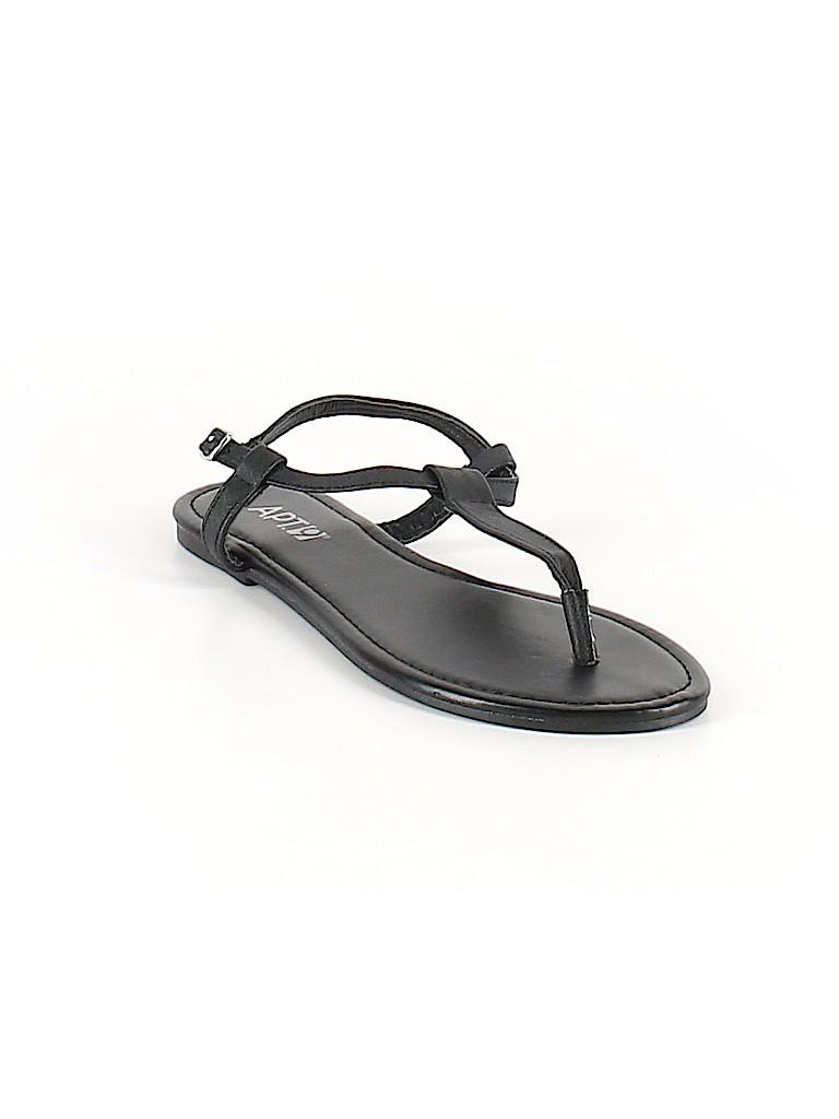 cce82d1543379c Apt. 9 Solid Black Sandals Size 7 - 8 - 58% off
