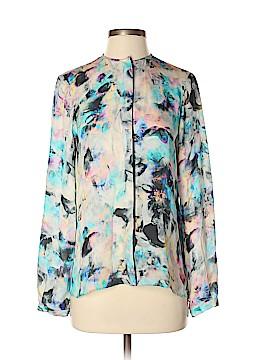 Parker Long Sleeve Silk Top Size S