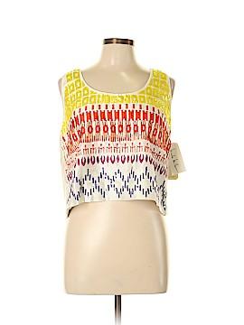 Nicole Miller Artelier Sleeveless Silk Top Size L
