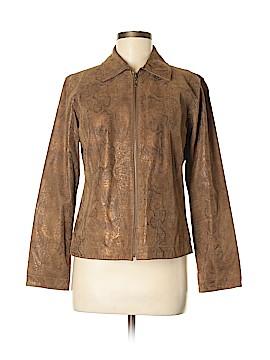 Chico's Leather Jacket Size Sm (0)