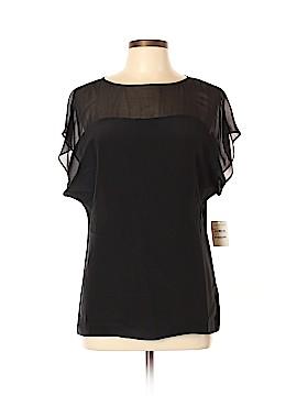 Trouve Short Sleeve Silk Top Size L
