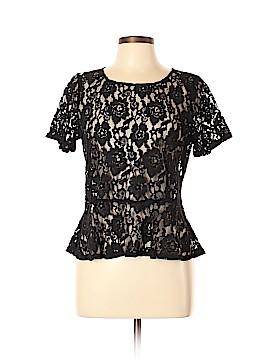 DKNY Short Sleeve Blouse Size L (Petite)