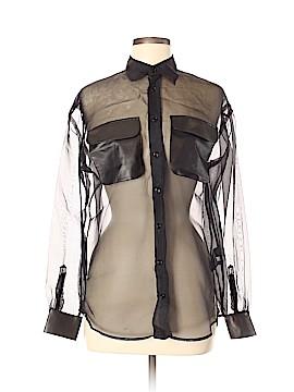 Ralph Lauren Black Label Long Sleeve Silk Top Size 8