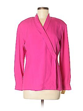 Rafaella Long Sleeve Silk Top Size 4