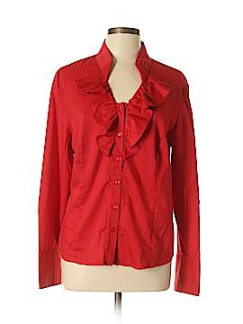 Tribal Long Sleeve Button-Down Shirt Size 16