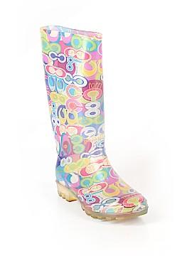Coach Heart Poppy Rain Boots Size 5