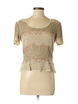 Adrianna Papell Short Sleeve Silk Top Size 6