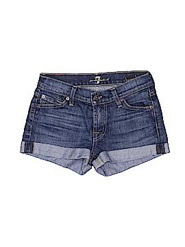 7 For All Mankind Denim Shorts 23 Waist