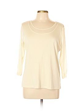 Lynn Ritchie 3/4 Sleeve Silk Top Size XL