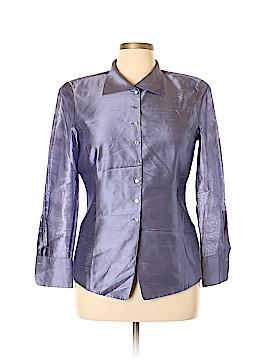 Dana Buchman Long Sleeve Silk Top Size 14 (Petite)