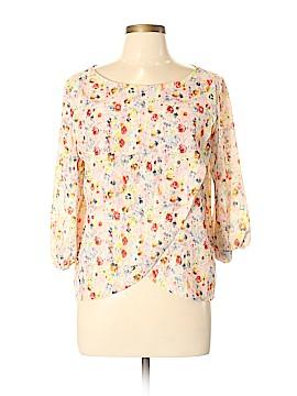 Zara W&B Collection 3/4 Sleeve Blouse Size L