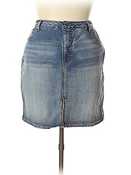 Faded Glory Denim Skirt Size 16