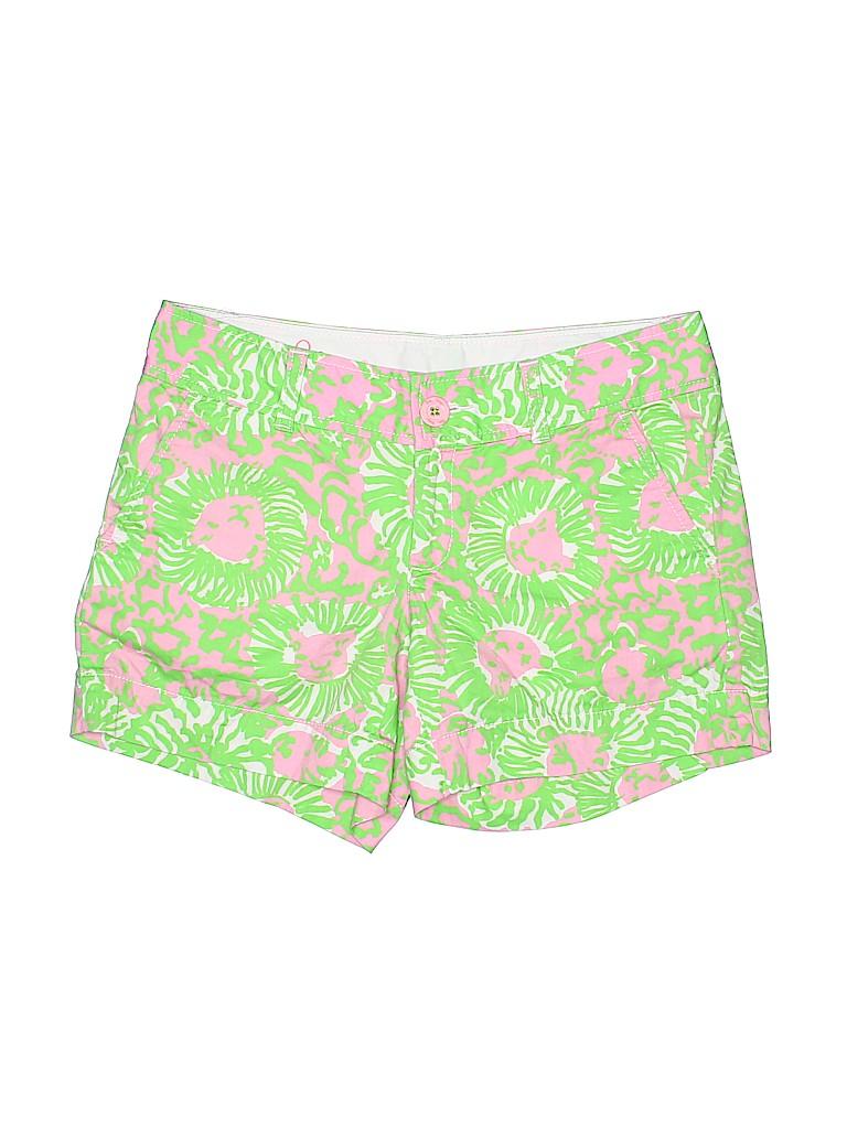 Lilly Pulitzer Women Khaki Shorts Size 0