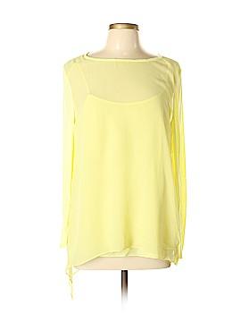PureDKNY Long Sleeve Silk Top Size L