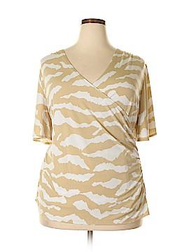 Susan Graver Short Sleeve Top Size 2X (Plus)
