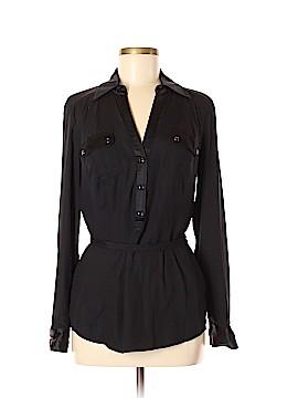 Cache Long Sleeve Silk Top Size M