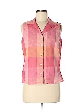 Geoffrey Beene Sport Sleeveless Button-Down Shirt Size 8
