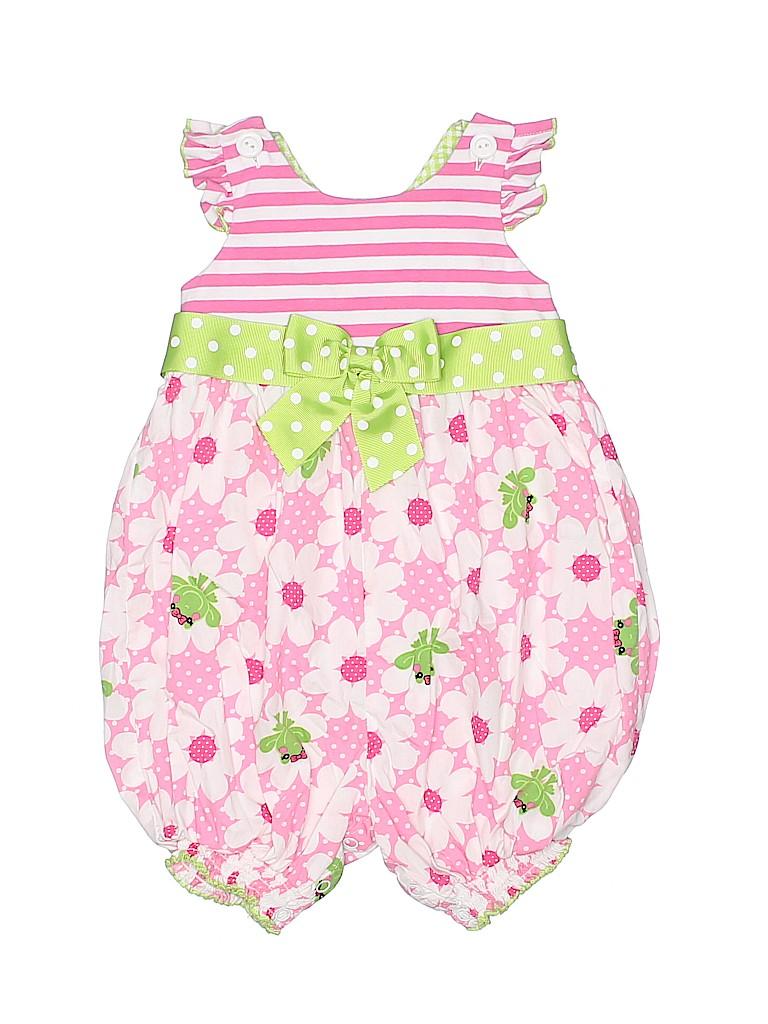 8a6a7b697bf Bonnie Jean 100% Cotton Floral Polka Dots Stripes Pink Dress Size 2T ...