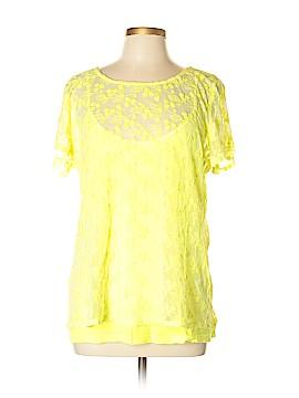 Velvet by Graham & Spencer Short Sleeve Blouse Size L