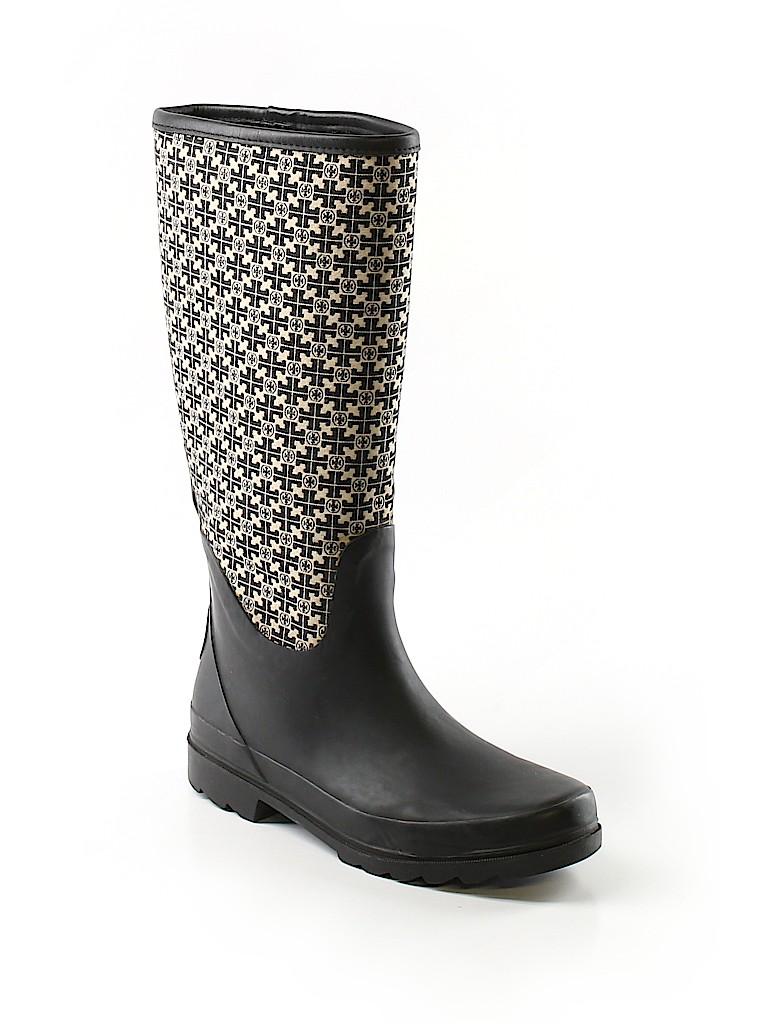 808e985ea14 Tory Burch Print Black Rain Boots Size 9 - 72% off
