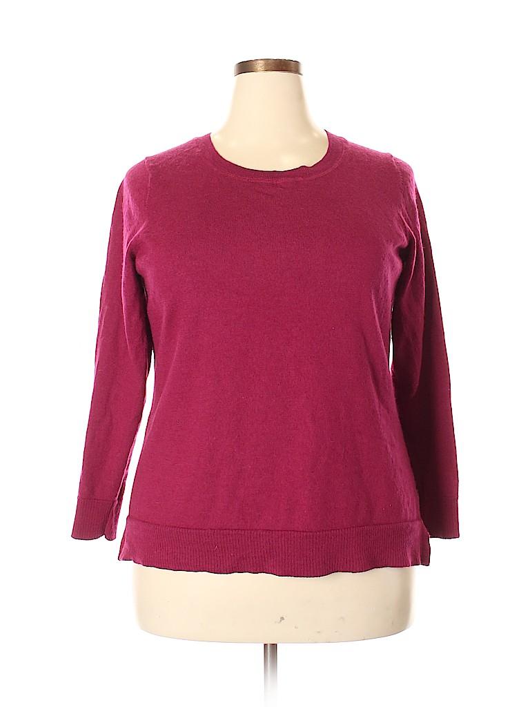 Ellen Tracy Women Wool Pullover Sweater Size 2X (Plus)