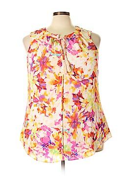 Rose & Olive Sleeveless Blouse Size 2X (Plus)