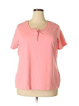 Denim Co Short Sleeve Top Size 2X (Plus)