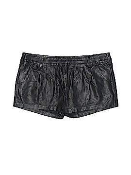 Zara TRF Faux Leather Shorts Size 8