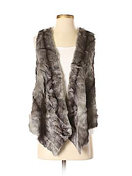 Twelfth Street by Cynthia Vincent Faux Fur Vest Size P