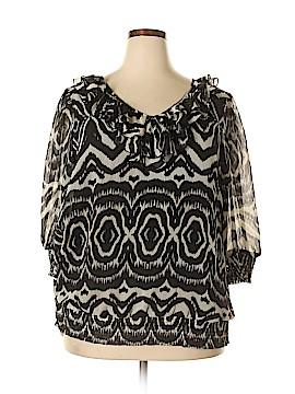 Adiva Long Sleeve Blouse Size 2X (Plus)