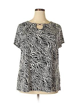 Dana Buchman Short Sleeve Top Size 2X (Plus)