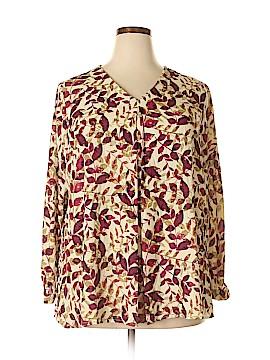 Norm Thompson Long Sleeve Blouse Size 1X (Plus)