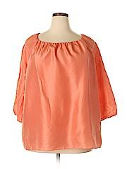 Talbots Women 3/4 Sleeve Silk Top Size 2X (Plus)