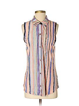 Hy & Dot Sleeveless Button-Down Shirt Size M
