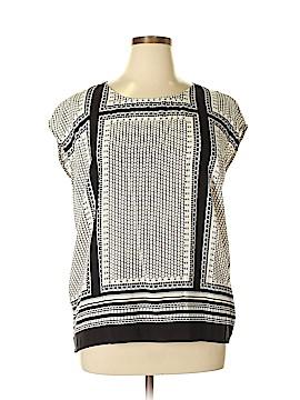 Cynthia Rowley TJX Short Sleeve Blouse Size XL