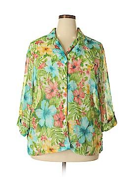 Cathy Daniels Long Sleeve Blouse Size 1X (Plus)