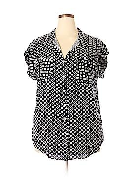 Jach's Girlfriend Short Sleeve Button-Down Shirt Size XXL