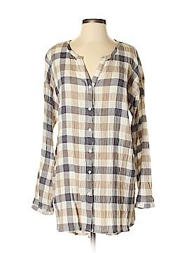 Mystree Long Sleeve Button-Down Shirt Size L