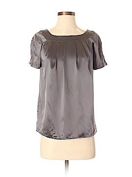 Moda International Short Sleeve Silk Top Size S