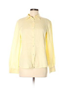 Laura Ashley Long Sleeve Button-Down Shirt Size M