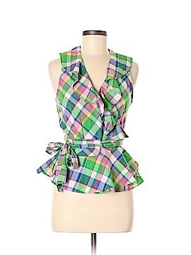 L-RL Lauren Active Ralph Lauren Sleeveless Button-Down Shirt Size M