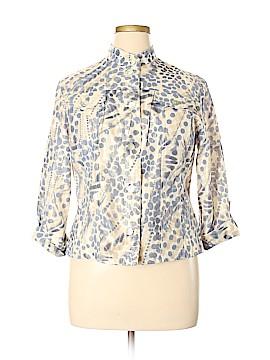Lark Lane Long Sleeve Button-Down Shirt Size 14