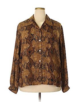 Elisabeth by Liz Claiborne Long Sleeve Blouse Size 18 (Plus)