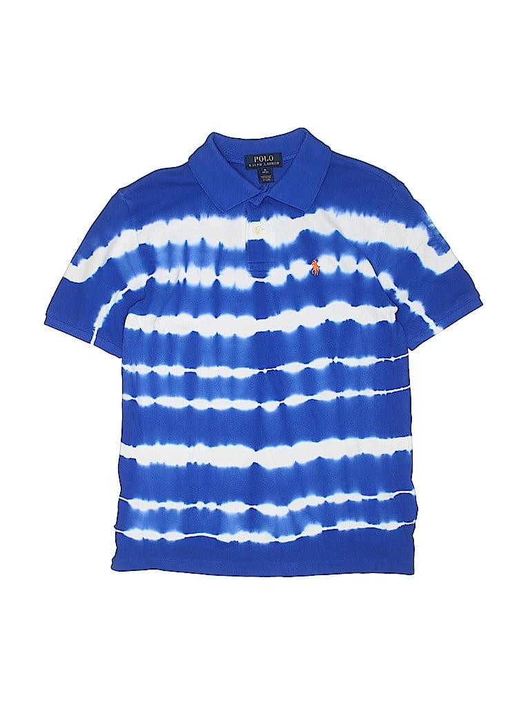 ba810bbf Polo by Ralph Lauren 100% Cotton Tie Dye Dark Blue Short Sleeve Polo ...