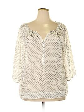 Ann Taylor LOFT 3/4 Sleeve Blouse Size XXL