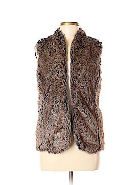 Sebby Faux Fur Vest Size M