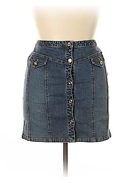 INC International Concepts Denim Skirt Size 14